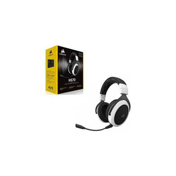 Corsair Gaming Headset – HS70 Wireless – White