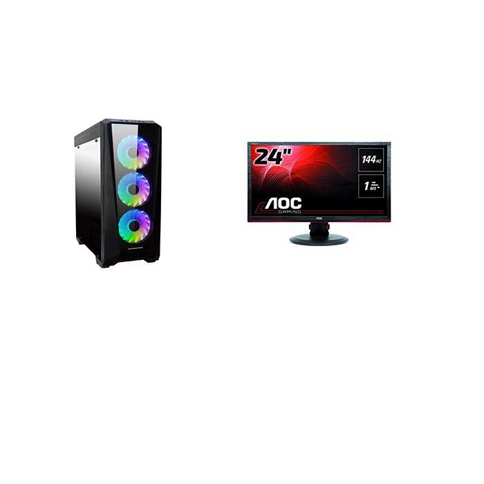 Full Rig Aoc 24 Inch 144 Hz Intel Core I7 8700 Rtx